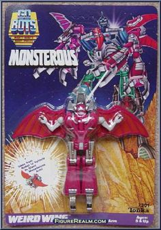 gobots monsterous weird wings | Weird Wing from Go-Bots - Monsterous manufactured by Tonka [Front]