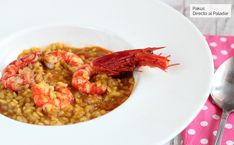 Arroz caldoso con carabineros, la mejor receta para enamorar en verano Le Chef, Everyday Food, Chana Masala, Sweet Potato, Risotto, Meal Prep, Brunch, Bacon, Rice