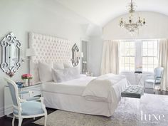 A charming Short Hills colonial's master #bedroom.