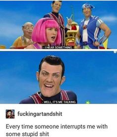 Or smile, or chuckle, or at least not be bored! And you can always find some chuckle worthy funny pictures (memes) - a direct view of what people are uploading to our site now. Funny Shit, Funny Posts, The Funny, Funny Stuff, Random Stuff, Memes Humor, Humor Humour, Lazy Town Memes, Lazy Town Sportacus