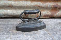 Antique Sad Iron Primitive Cast Iron Metal by TheOldTimeJunkShop, $26.00