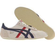 Asics Onitsuka Tiger Runspark LE (off white / navy) D201L-9950 - $84.99