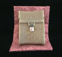 Ladies Gold Mesh & Guilloche Clasp Cigarette Case From Power Of One Designs