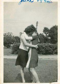Vintage Erste Zeit Lesbisch