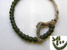 bead and wood | earthy jewelry | sustainable jewelry | necklace
