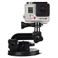 Fest ditt GoPro-kamera til ulike overflater takket være dette sugekopp-festet. Spill inn video fra eksempelvis bil, båt eller motorsykkel.