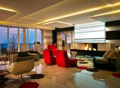Indirekte Deckenbeleuchtung, Deckengestaltung, Kreative, Deckengestaltung,  Design Stile, Deko Ideen, Wohnzimmer, Innenarchitektur, Innenräume