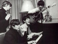 964, January 16, The Beatles at the George V hotel in Paris, France... photo by harry benson