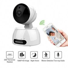 Home Security Camera Wireless, Baby/Pets/Elderly Monitor WiFi HD Indoor Home Video Surveillance Camera with Motion Detection, Night Vision, 2 Way Audio -White -- Visit the image link more details. (This is an affiliate link) Wireless Home Security Systems, Wireless Security Cameras, Security Alarm, Security Cameras For Home, Security Solutions, Video Surveillance Cameras, Security Surveillance, Surveillance System, Wireless Video Camera