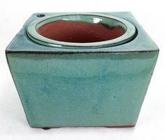 Self Watering Glazed Square Ceramic Pot - Aqua - x 4 Lawn And Garden, Garden Pots, Ceramic Planters, Planter Pots, Asparagus Fern, Self Watering Planter, Peace Lily, Christmas Cactus, Spider Plants