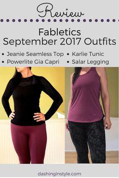 Review: Fabletics Salar Legging, Karlie Tunic, Powerlite Gia Capri & Jeanie Seamless Top