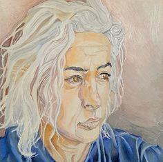 Portrait of Merav, made by Roee Lavan, oil on canvas, 2020 Cancer Treatment, Oil On Canvas, Portrait, Painting, Art, Art Background, Headshot Photography, Painting Art, Kunst