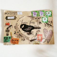 I received the best kind of snail mail yesterday - unexpected and hand decorated. I love it!