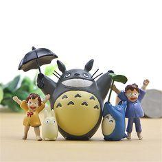 Hayao Miyazaki Totoro Figure Toys Anime My Neighbor Totoro Action Figure Models PVC Collection Toys Gift 5pcs/set
