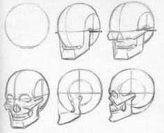 Drawing For Beginners - Skizzieren Anatomy Sketches, Anatomy Drawing, Art Sketches, Human Anatomy, Drawing The Human Head, Drawing Heads, Drawing Faces, Drawing Art, Figure Drawing