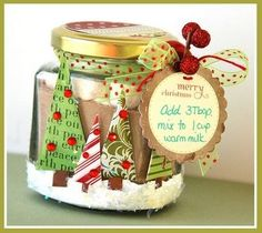 más y más manualidades: Crea hermosos obsequios navideños usando frascos de vidrio