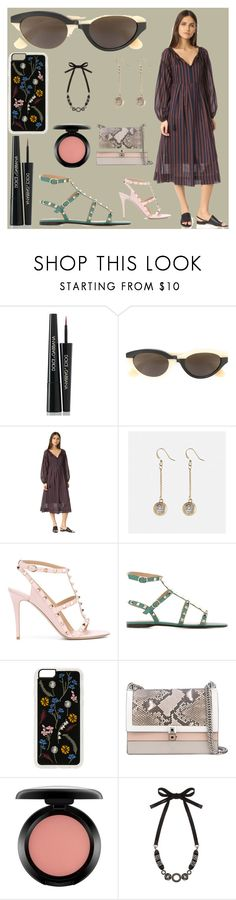 """fashion for women's"" by denisee-denisee ❤ liked on Polyvore featuring Dolce&Gabbana, RetroSuperFuture, Steven Alan, Avenue, Valentino, Zero Gravity, Fendi, MAC Cosmetics and 'S MaxMara"
