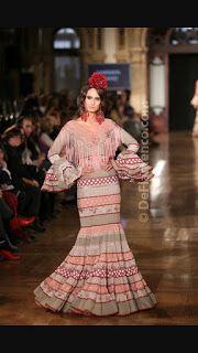 PATRONES DE COSTURA: VOLANTES PARA EL TRAJE DE FLAMENCA Dresses With Sleeves, Long Sleeve, Beauty, Fashion, Mantle, Flamenco Dresses, Children Outfits, Ruffles, Sewing Patterns