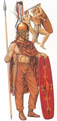 A Senones chieftain c. 300 BC.  The Senones were the most aggressive of the Celtic tribes who invaded Northern Italy.and played the leading role in the destruction of the Roman army at the battle of Alia in 390 BC.