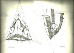 3-Point Perspective Exercise by *tower015 on deviantART