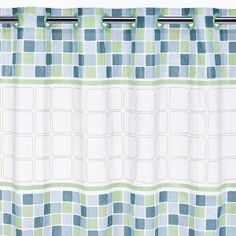 """Hookless Mosiac PEVA Shower Curtain - 71x74"""" click image to zoom"""