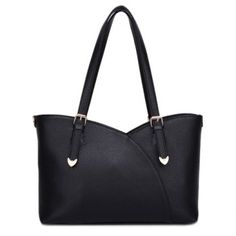 $27.31 Simple Style Solid Color and Metallic Design Women's Shoulder Bag