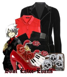 """Soul Eater Evans from Soul Eater"" by likeghostsinthesnow ❤ liked on Polyvore featuring Bottega Veneta, H&M, Nobody Denim, claire's and Robert Clergerie"