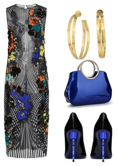 """Untitled #673"" by mchlap on Polyvore featuring Versace, Tory Burch and Yves Saint Laurent"