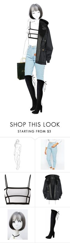 """""""No 2."""" by escap3-from-reality ❤ liked on Polyvore featuring Zara, American Apparel, Balmain, WithChic and Glamorous"""