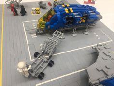 Cornaredo 2018 | by nctmrn Lego Boat, Lego Spaceship, Lego Projects, Cool Lego, Legoland, Spaceships, Legos, Construction, Drop