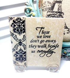 Those we love HOME Travertine tile with Stand. by mydecor8 on Etsy, $7.50
