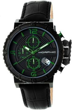 Morphic M50 Series Collection MPH5006 Men's Black Stainless Steel Chronograph Watch