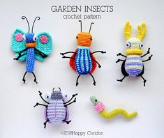 Crochet a Set of Colorful Garden Insects … Get the Patterns From HappyCoridon | KnitHacker