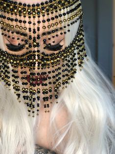 Tribal Face Chain Golden Leyla, Burqa Face Mask – Keep up with the times. Face Veil, Face Face, Chain Headpiece, Headdress, Tribal Face, Shoulder Necklace, Face Jewellery, Cute Girl Face, Fairytale Fashion