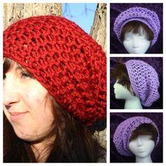 Free Crochet Super Slouch hat pattern