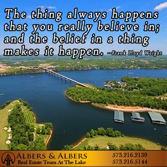 Do you plan to dream big dreams this year?  #lakeoftheozarks #albersandalbers #realestate