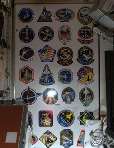 Mission Patches - a wall of history in the Space Station Node 1, including my last time here, 11 years ago.