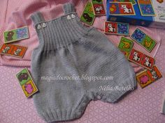 Magia do Crochet Baby Knitting Patterns, Free Knitting, Magia Do Crochet, Crochet Diy, Baby Pants Pattern, Crochet Baby Pants, Diy Crafts Knitting, Diy Bra, Baby Overalls