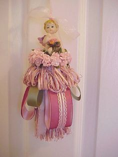 Decorative tassel cherub pink green1 by Enchanted Rose Studio, via Flickr