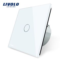 Livolo luxo cristal branco, Interruptor de parede, Interruptor de toque, Normal de 1 Gang 1 Way Switch, C701-11/2/3/5