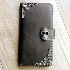 Gothic Skull phone wallet Leather flip case Cute cover For LG G5 K7 K10 X Screen