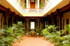 A traditional interior courtyard in India.