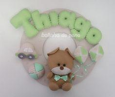 Enfeite Porta Maternidade Urso Brinquedos 2 - Bolinha de Pano