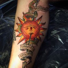 Red viper tattoo inspired by the house martell coat or arms
