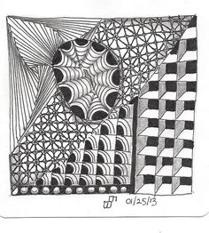 "The day I drew this, I felt torn between two worlds. I wanted to draw, but I had to work. There was no conscious thought of this when I drew the tile Do you think it shows? ""Subconscious Knows"" by ArtZ by BethB, via Flickr"