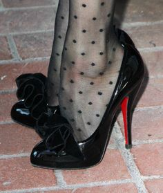 How does she even walk in these? Sweet Jesus!      fashionbygettyimages:    Foot Candy from the master, Christian Louboutin. These belong to Dita Von Teese. Inspirational excitement for ones eyes.  Source: Gettyimages.com