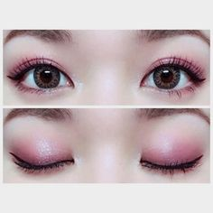 Korean makeup ideas: Milk of magnesia is really a mask for shiny or oily skin. It can be obtained from the medicine aisle at drugstores for the affordable Korean Makeup Tips, Korean Makeup Look, Korean Makeup Tutorials, Asian Eye Makeup, Eye Makeup Steps, Natural Eye Makeup, Blue Eye Makeup, Eyeshadow Tutorial For Beginners, Beginner Eyeshadow