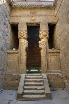 Egypt10_0929 HDR by wallacefsk, via Flickr  Temple of Hathor at Dendera