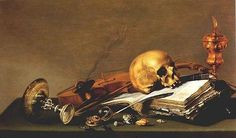Vanitas Still Life, private collection, New York by Pieter...