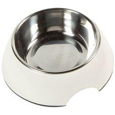 Aus der Kategorie Näpfe & Reisenäpfe  gibt es, zum Preis von   FLAMINGO Napf ROYAL RONDO weiss für Hunde und Katzen Größe M<br /><br />Fress-/ Futternapf WEISS<br />Material: Melamin / Edelstahl<br /><br />Maße:<br />Größe /Volumen / Durchmesser Napf / Breite unten / Höhe <br />S / 160ml / 10,0cm / 14,0cm / 5,0cm<br />M / 350ml / 13,0cm / 17,5cm / 6,0cm<br />L / 700ml / 16,0cm / 22,0cm / 7,5cm<br />XL / 1400ml / 21,0cm / 27,0cm / 9,0cm<br /><br />Hundenapf oder Katzennapf (kleine Größe) mit…